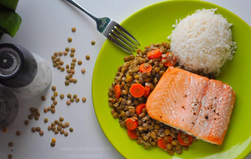 Losos šošovica zdravý obed fitrecept zdravý recept