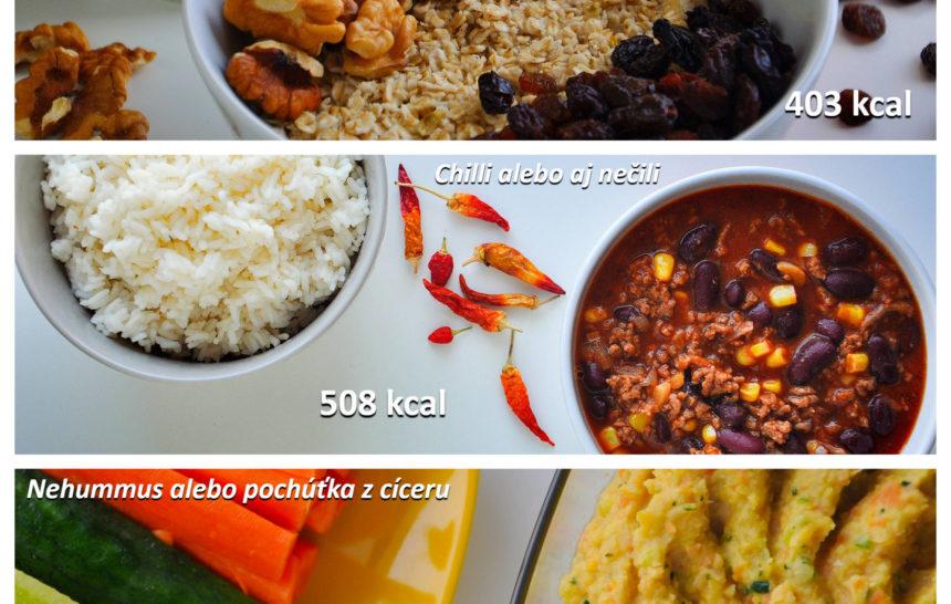 Fitness jedálniček raňajky, obed, večera