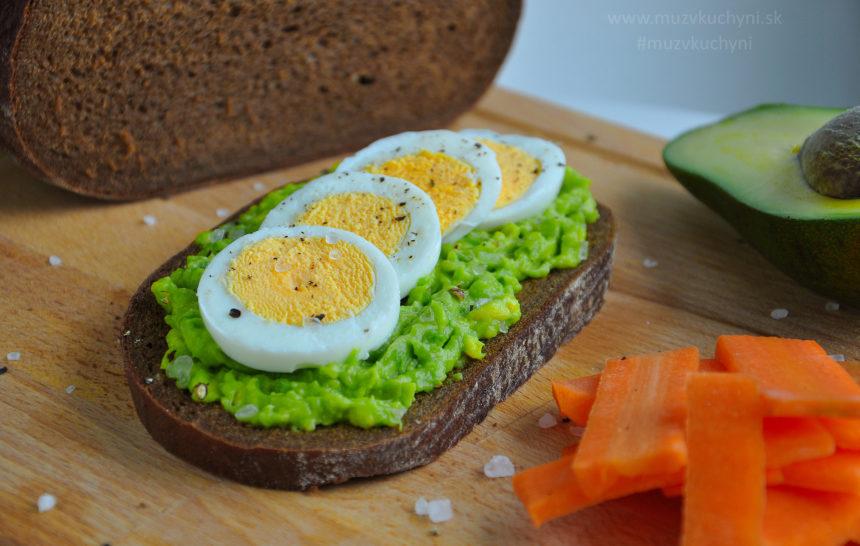 recept s avokádom, z avokáda, vajíčko, fitness recept, fitrecepty, raňajky