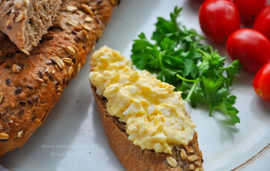 vajíčková pomazánka, recept, raňajky, fitrecept, fitness recepty