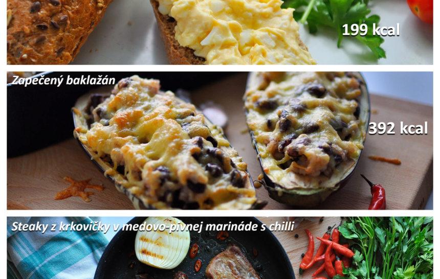 raňajky, obed, večera, jednoduchý recept, fitrecept, fitness recept