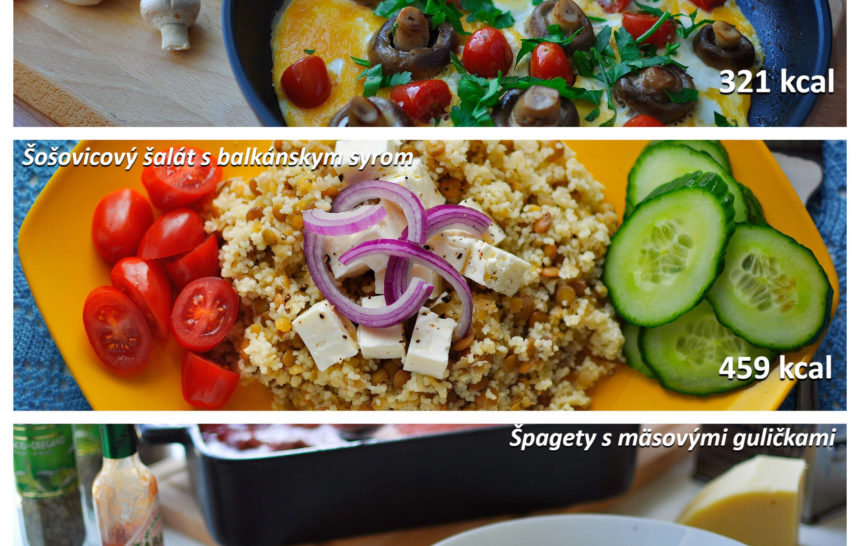 fitness jedálniček, fitrecepty, fitrecept, raňajky, obed, večera, jednoduchý, rýchly, zdravý, recept, vajíčka, huby, paradajky, šošovica, šalát, špagety, mäsové guličky