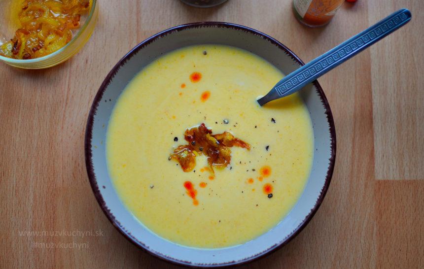 polievka, mrkvová, ako využiť mrkvu, mrkvový krém, karamelizovaná cibuľka, recept s karamelizovanou cibuľkou, večera, obed, rýchly, rýchla, zdravý, zdravá, chutný, chutná