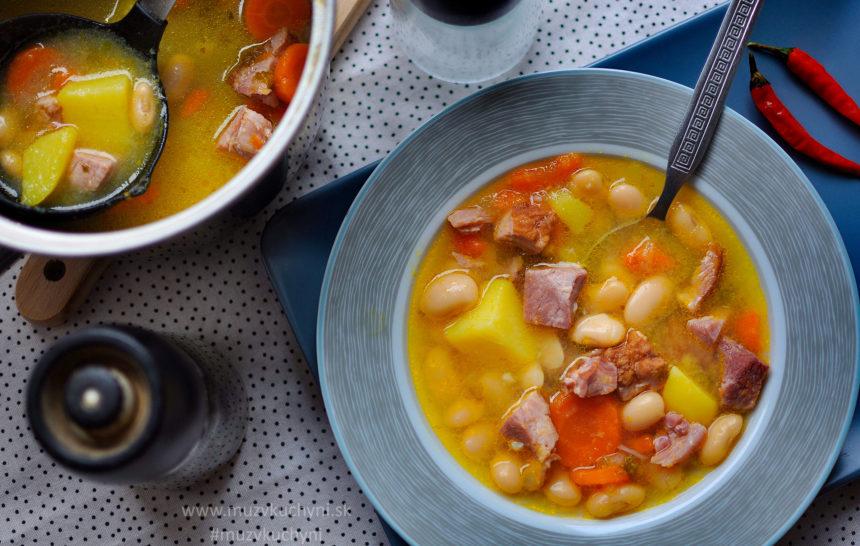 fazuľová, polievka, večera, recept, obed, jednoduchý, rýchly, ľahký, zdravý