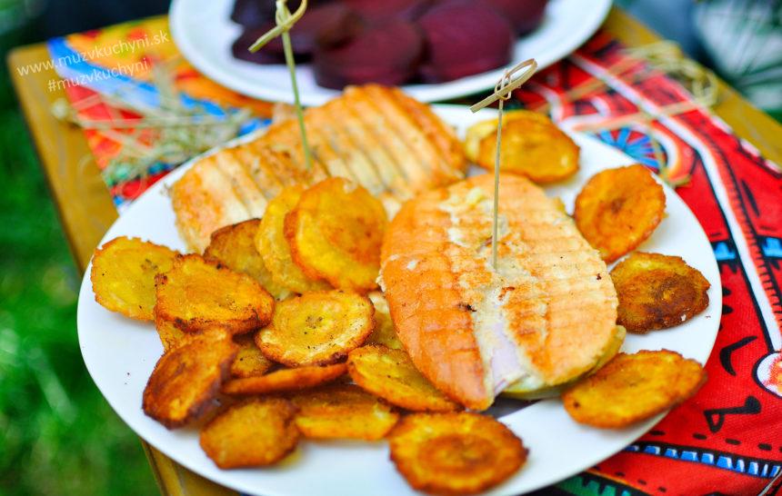plantain, recept, pečené banány, sendviš, kubánsky