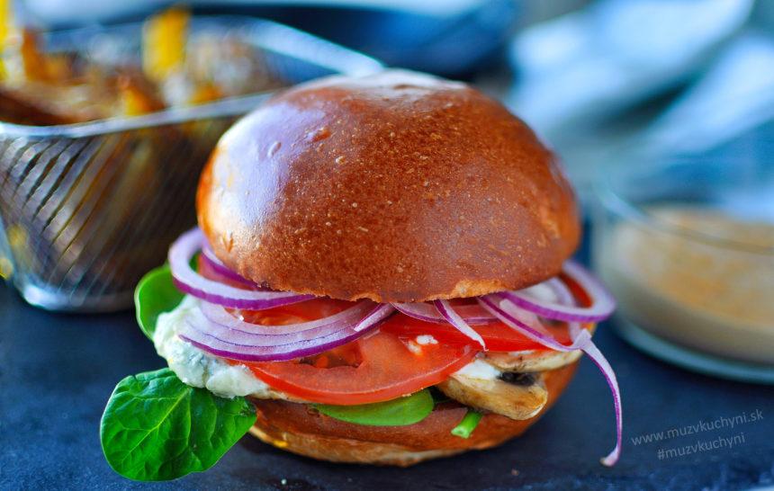 vegetarian, vegan, burger, hamburger, portobello