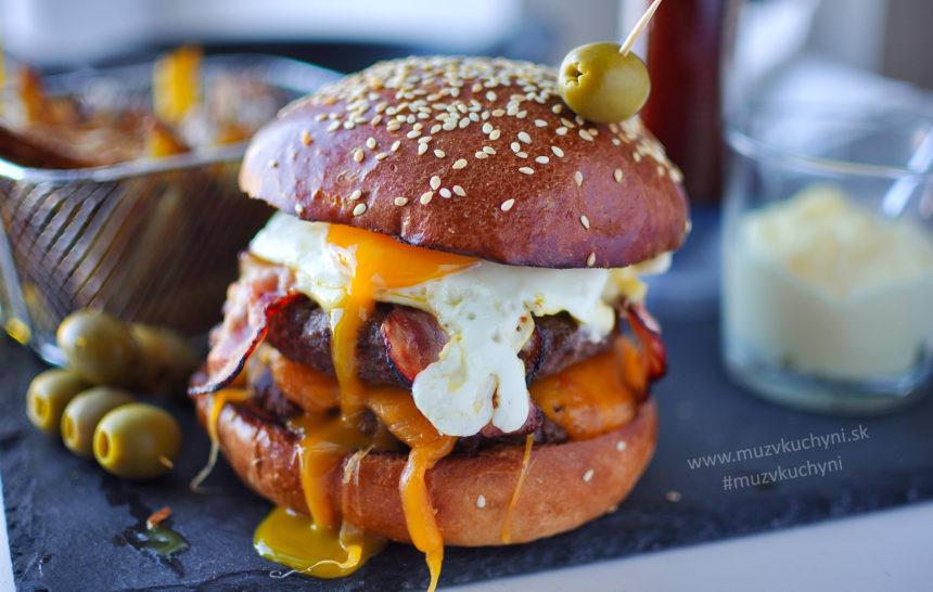 dvojitý cheeseburger, recept