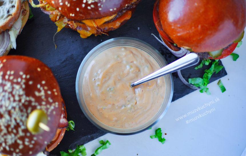 domáca, omáčka, hamburgery, hamburger, burger, sauce, recept