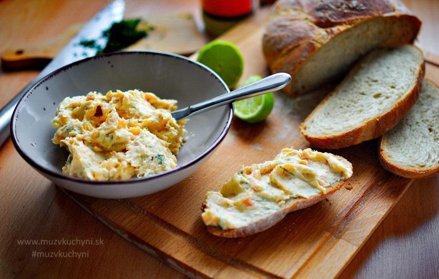 pomazánka, nátierka, údený losos, recept, raňajky