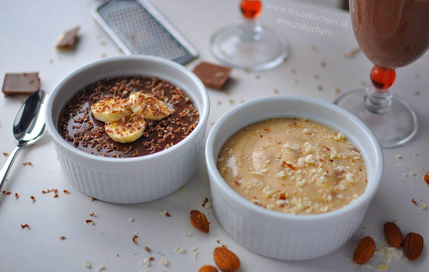 domáci termix, recept, raňajky, puding, tvaroh, mandle