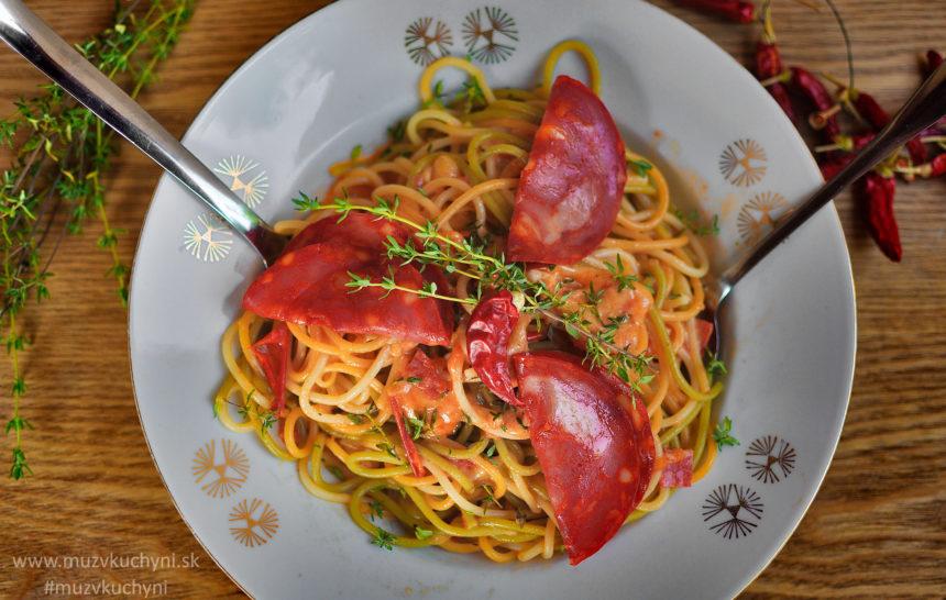 Špagety s chorizom